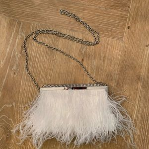 White small clutch with chain